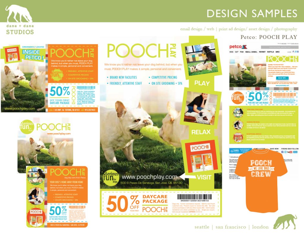 design for pooch play launch by j.nichole smith